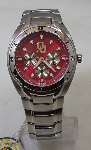 Oklahoma Sooners Fossil Watch Mens Multifunction Li2383