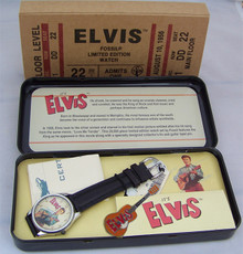Elvis Presley Watch Fossil Its Elvis in Person Movie Ticket Watch Set