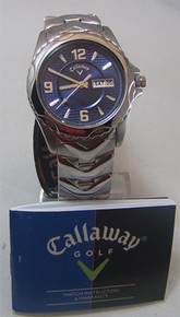 Callaway Golf Watch Mens Three Hand Day Date Blue Wristwatch CY2059