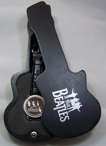 With The Beatles  Watch in Black Wooden Guitar display case WBTL03