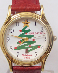 Fossil Christmas Tree Watch Nordstrom 1996 Holiday Novelty Wristwatch