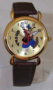 Goofy Backwards Pedre Disney Watch 1989 Gold Lmt. Ed. Wristwatch