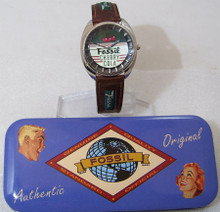 Fossil Cherry Cola Watch Vintage Classic Novelty Style JR-7580