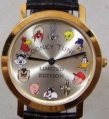 Bugs Bunny Pedre Watch 12 Warner Bros. Characters 18K Gold plate LE