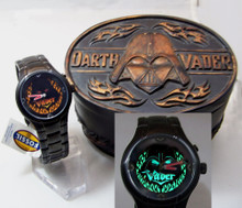 Fossil Darth Vader Light Up Flames Watch Black Star Wars Li2524