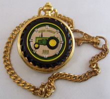 John Deere Franklin Mint Pocket Watch 830 Diesel Tractor, LE, New