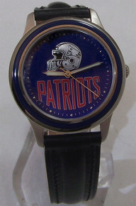 New England Patriots Fossil Watch Set Vintage 1994 Wristwatch with Pin