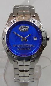 Florida Gators 2006 Football Champions Watch Fossil Mens Li2747 New