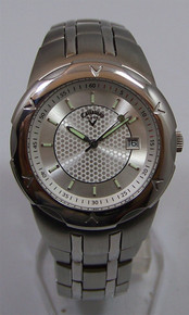 Callaway Golf Watch Mens 3 Hand Date Stainless Wristwatch CY2006 New