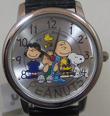 Peanuts gang watch snoopy charlie brown cartoon characters wristwatch for Snoopy watches