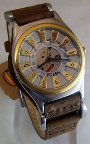 Fossil Vintage Watch Mens Metallic Steampunk Style Wristwatch JR-7560