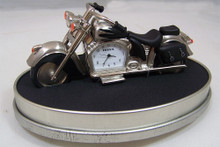 Fossil Motorcycle Desk Clock. Novelty Collectible Roadster Style Biker