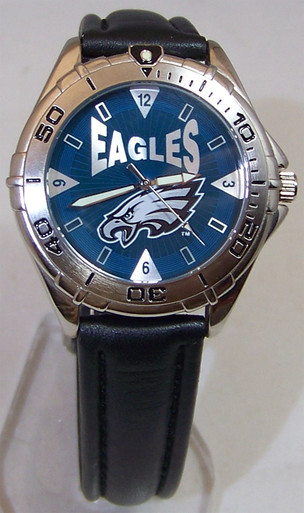 Philadelphia Eagles Fossil Watch Mens Vintage 1998 Wristwatch