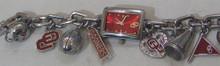 OU Oklahoma Sooners Fossil Watch Womens Charm Bracelet Wristwatch
