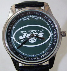 New York Jets Super Bowl III Watch Game Time vintage Wristwatch