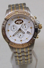 New York Jets Mens Watch 23K Gold Logo Legend Chronograph Game Time