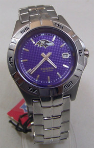 Baltimore Ravens Fossil Watch Mens Three Hand Date Wristwatch
