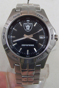 Oakland Raiders Fossil Watch Mens Three Hand Date Wristwatch NFL1049