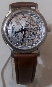 Fossil Airplane Watch Vintage Collectors Pilots Samsonite Wristwatch