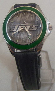 NY New York Jets Fossil Watch Vintage Mens Domed 1996 Wristwatch