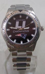 New England Patriots Super Bowl LI Watch Mens Game Time Heavy Hitter