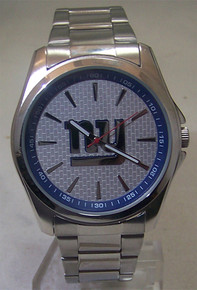 New York Giants Watch Avon Release Mens 3 Hand Silver Tone Wristwatch