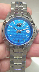 Carolina Panthers Fossil Watch Mens Three Hand Date Wristwatch NFL1084