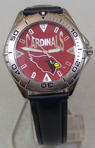 Arizona Cardinals Fossil Watch Mens 1997 Vintage Wristwatch with Tin