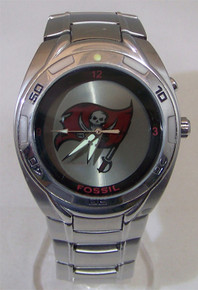 Tampa Bay Buccaneers Fossil Watch Mens Bucs Kaleido Flashing Logo
