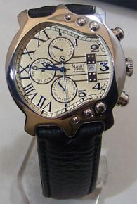 Stauer Guitar Watch Mens Automatic Movement Stainless Steel Wristwatch