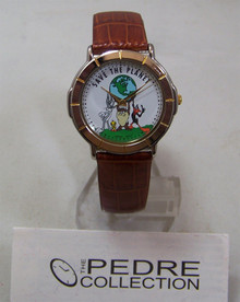Bugs Bunny Looney Tunes Watch Pedre Save the Planet Wristwatch