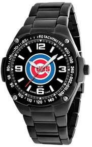 Chicago Cubs Watch Mens MLB Black Stainless Gladiator Wristwatch New