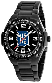 Detroit Tigers Watch Mens MLB Black Stainless Gladiator Wristwatch New