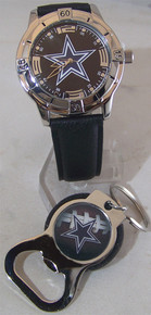 Avon Dallas Cowboys Watch and Bottle Opener Key Chain Gift Set