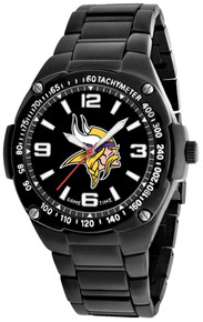 Minnesota Vikings Watch Mens Black SS Game Time Gladiator Wristwatch