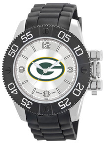 Green Bay Packers Watch Game Time Beast Mens Black Wristwatch NFL-BEA-GB