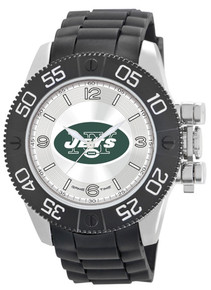 NY New York Jets Watch Game Time Beast Mens Black Wristwatch NFL