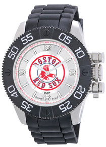 Boston Red SoxWatch Game Time Beast Mens Black Wristwatch Sox Logo
