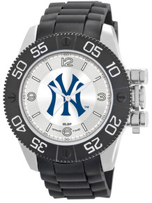 NY New York Yankees Watch Game Time Beast Mens Black Pinstripe Logo