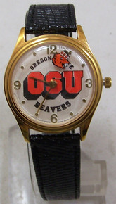 Oregon State OSU Watch Sun Time Rotating Beavers Mascot Wristwatch