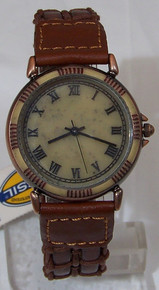 Fossil Vintage Watch Stone and Copper Earth Tones Wristwatch New