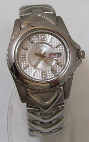 Callaway Golf Watch Womens CY2061 Silver SS with Day Date Windows