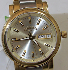 Callaway Golf Watch Womens CY2047 2 Tone SS Day Date Ladies Wristwatch