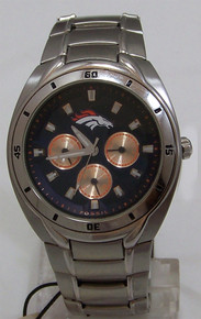 Denver Bronco Fossil Watch Mens Multifunction Wristwatch NFL1039
