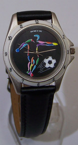 Soccer Player Watch Colorful Soccer Themed Action Wristwatch Mens New