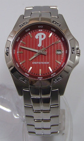 Philadelphia Phillies Fossil Watch Mens 3 Hand Date Wristwatch MLB1018