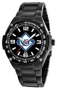 Tampa Bay Rays Watch Mens MLB Black Stainless Gladiator Wristwatch