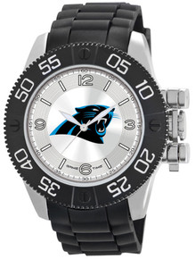 Carolina Panthers Watch Game Time NFL Beast Mens Black Wristwatch New