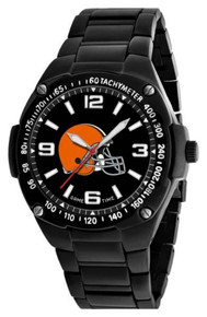 Cleveland Browns Watch Mens Black SS Game Time Gladiator Wristwatch