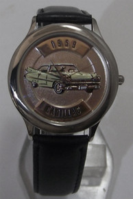1959 Cadillac Fossil Car Watch Relic 59 Caddy Auto Wristwatch ZR-94704